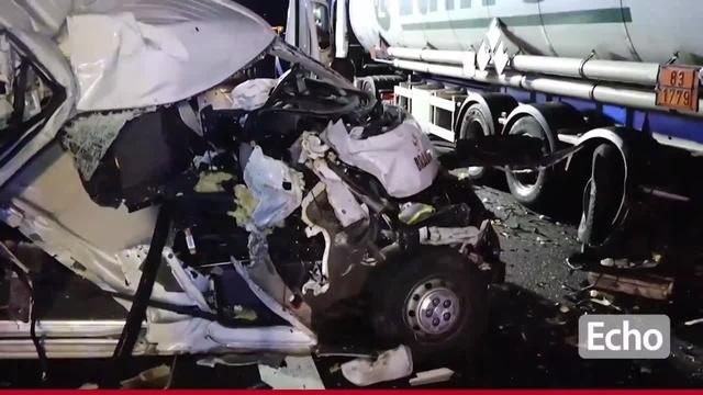 Unfall auf A67 bei Lorsch: Kleintransporter prallt auf Gefahrgutlaster