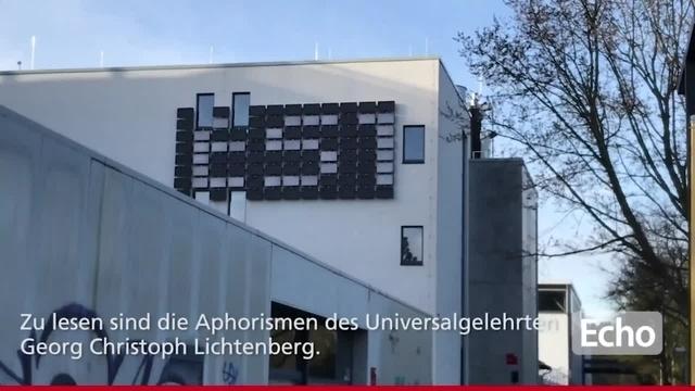Darmstadt: Lichtinstallation an der Lichtwiese