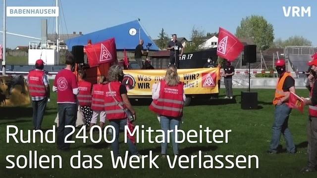 Demo bei Continental in Babenhausen