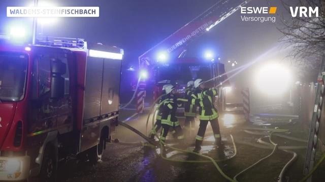 Dachstuhlbrand in Waldems-Steinfischbach