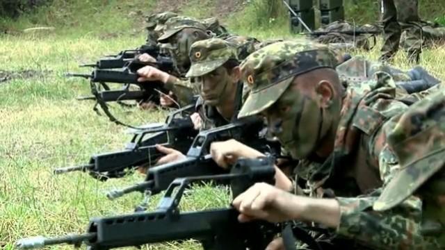 Rekruten bei der Bundeswehr