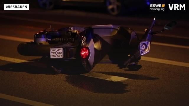 Rollerfahrer bei Unfall in Wiesbaden verletzt