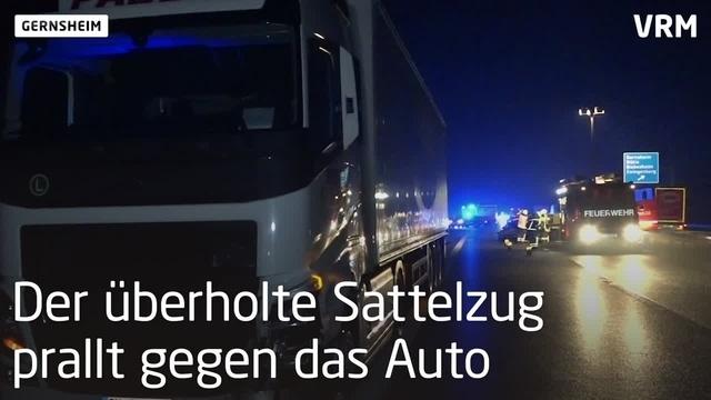 Sieben Verletzte bei Gernsheim auf A 67