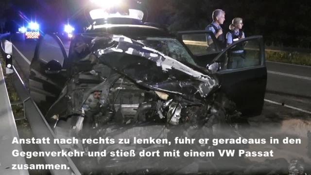 Ein Toter und drei Schwerverletzte nach Unfall bei Sinn