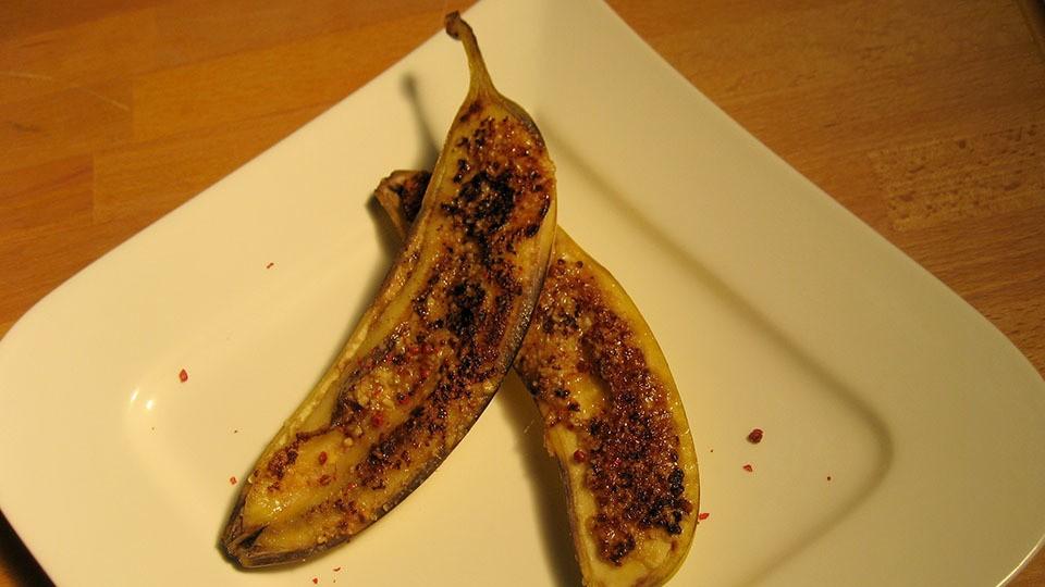 Karamellisierte Banane
