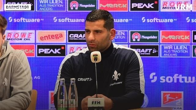 Pressekonferenz vor dem Lilien Spiel gegen Hamburg