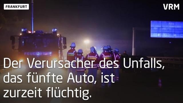Unfall auf der A3 am Frankfurter Flughafen