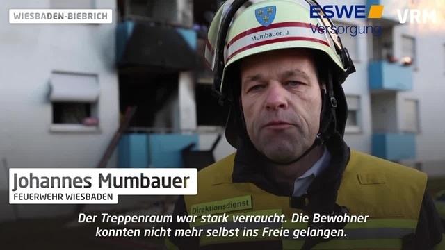 Wohnungsbrand in Wiesbaden-Biebrich