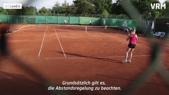 Tennis unter Corona-Auflagen