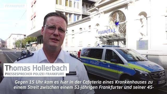 Frankfurt: Messer-Attacke in Krankenhaus