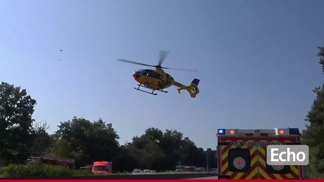 A67: Vollsperrung nach LKW-Unfall bei Lorsch