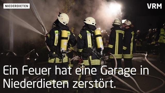 Garagenbrand in Niederdieten