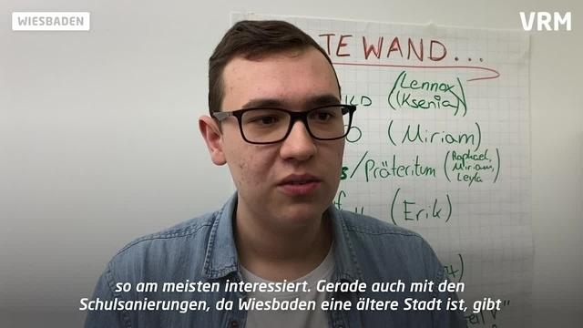 Wiesbaden hat einen neuen Stadtschulsprecher