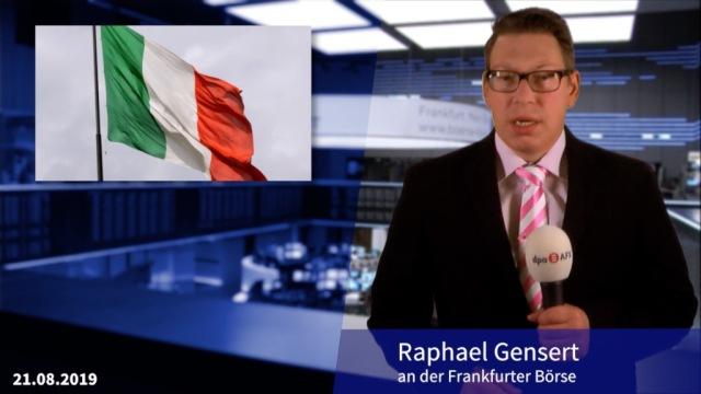 Regierung in Italien am Ende, Anleihen steigen