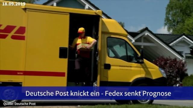 Aktie im Fokus: Deutsche Post knickt ein - Fedex senkt Prognose