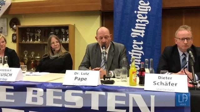 Podiumsdiskussion mit den Lautertaler Bürgermeisterkandidaten