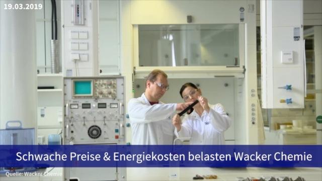 Aktie im Fokus: Schwache Preise und Energiekosten belasten Wacker Chemie