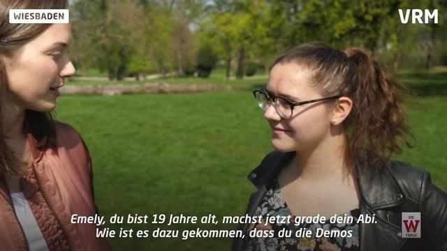 Wiesbaden: Emely Dilchert beantwortet die W-Frage