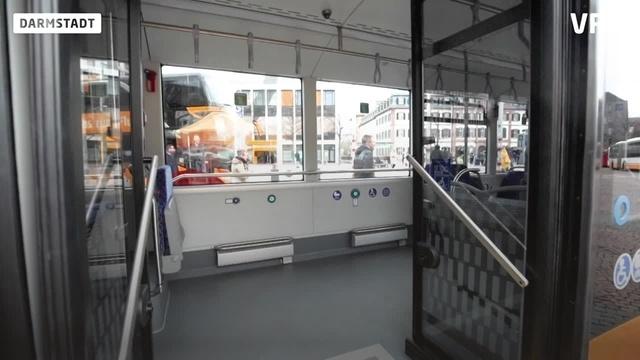 Erster E-Bus in Darmstadt