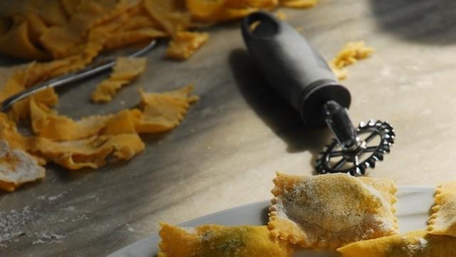 Spinat mit Ricotta Ravioli