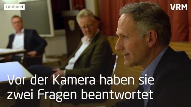 Laubacher Bürgermeisterkandidaten im Gespräch