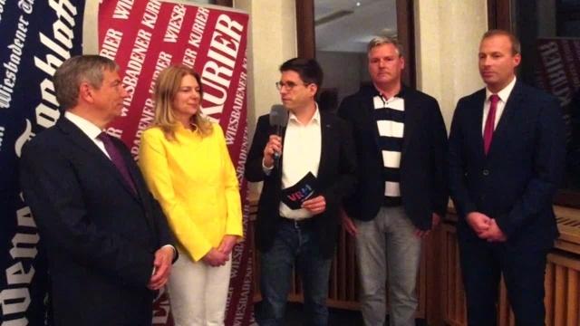 Wiesbaden: Die Elefantenrunde nach der OB-Wahl