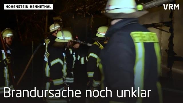 Brand auf Gelände der Kläranlage Hohenstein-Hennethal