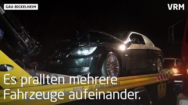 Unfall auf A61 bei Gau-Bickelheim