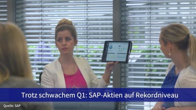 Aktie im Fokus: Trotz schwachem Quartal sind SAP-Aktien auf Rekordniveau