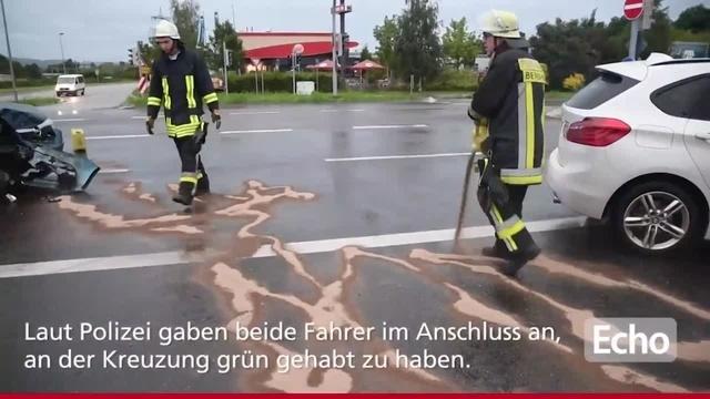 09.09.2017: Unfall mit fünf Verletzten in Bensheim