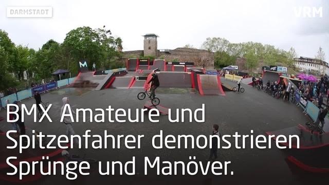 BMX-Wettbewerb für Amateure und Profis in Darmstadt