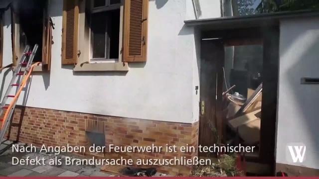 Brand in Hochheimer Einfamilienhaus