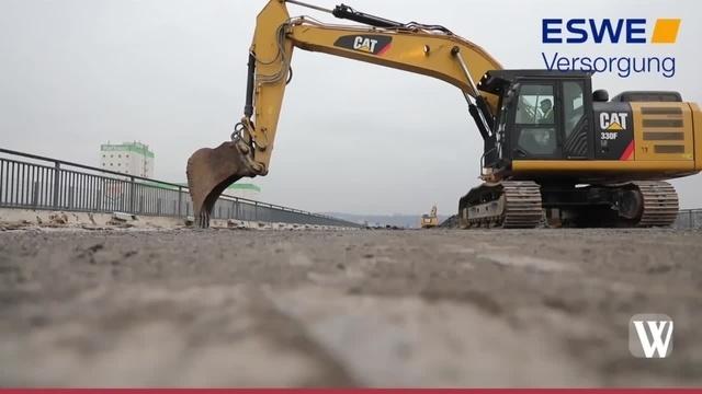 Schiersteiner Brücke wird zurückgebaut