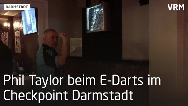 Phil Taylor im Checkpoint Darmstadt
