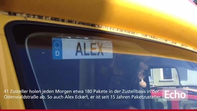 Ab die Post: unterwegs in Heppenheim mit Paketzusteller Alex Eckert