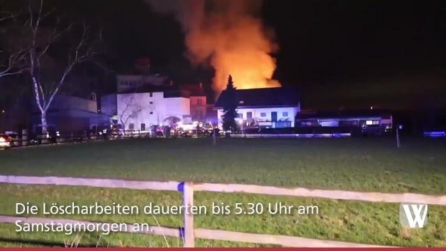 Wallau: Großbrand am Freitagabend