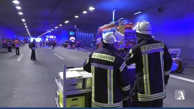 Rettungsübung im Hechtsheimer Tunnel
