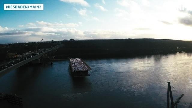Neues 2050-Tonnen-Bauteil für die Schiersteiner Brücke