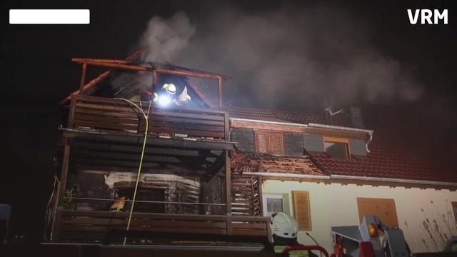 Balkonbrand in Oestrich-Winkel